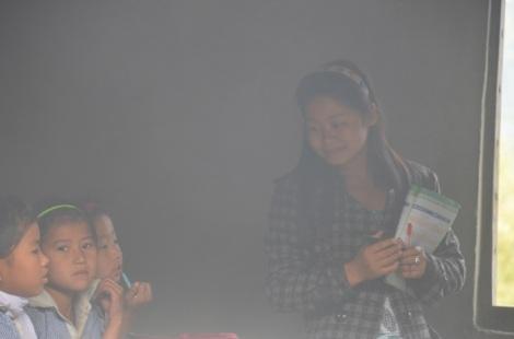 Miss Srijana Teaching in School.